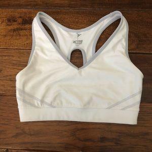 Old Navy athletic sports bra white & grey -s